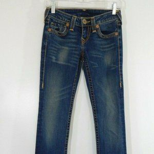 blue TRUE RELIGION jeans bootcut boot low rise 25